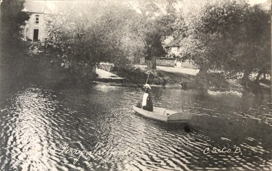 Old photograph of Saltford Ferry