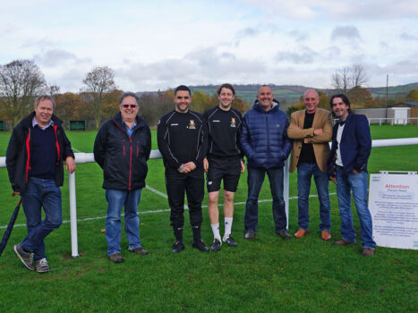 Parish Councillors and Football Club representatives