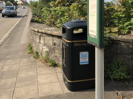 Saltford Parish Council provided bin by local bus stop