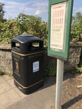 Saltford Parish Council provided Bin at local bus stop