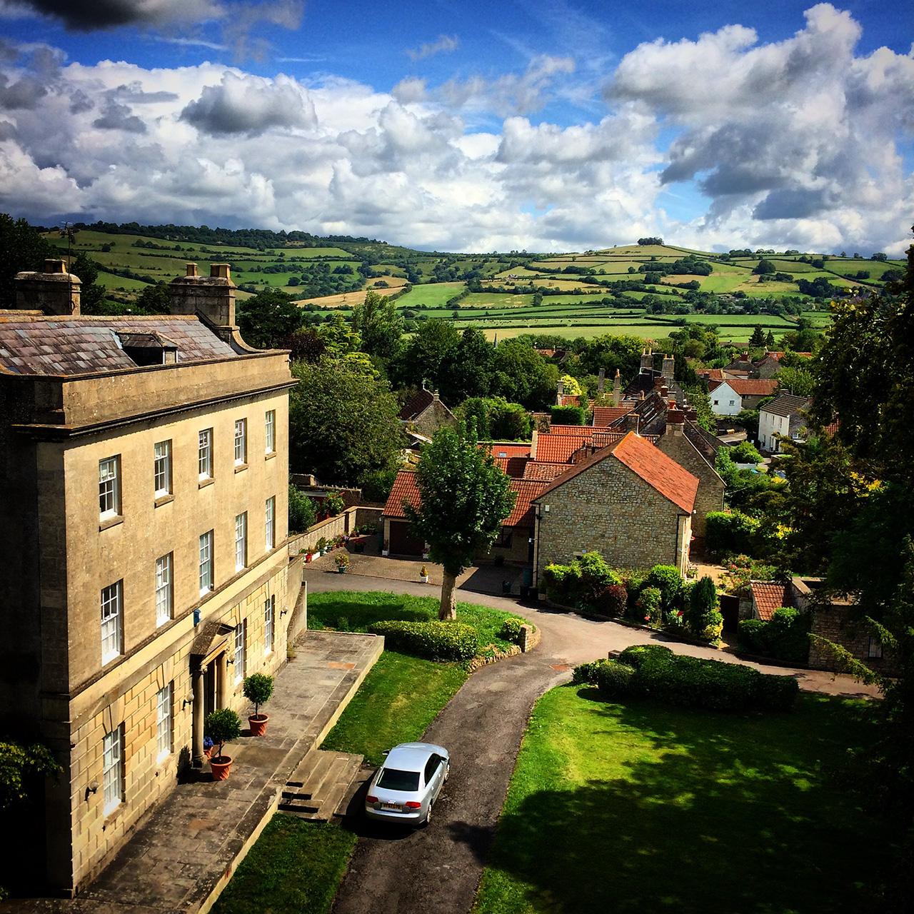 View over Saltford House towards Kelston Roundhill, taken by Cllr Jon Godfrey